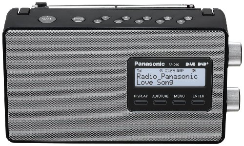 Panasonic RF-D10EG-K Digitalradio (DAB+/UKW Tuner, Netz- und...