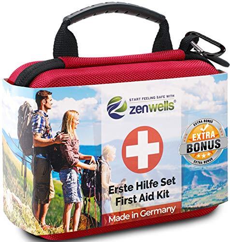 Erste Hilfe Set Outdoor, Fahrrad, Wandern Zubehör mit Zeckenkarte,...