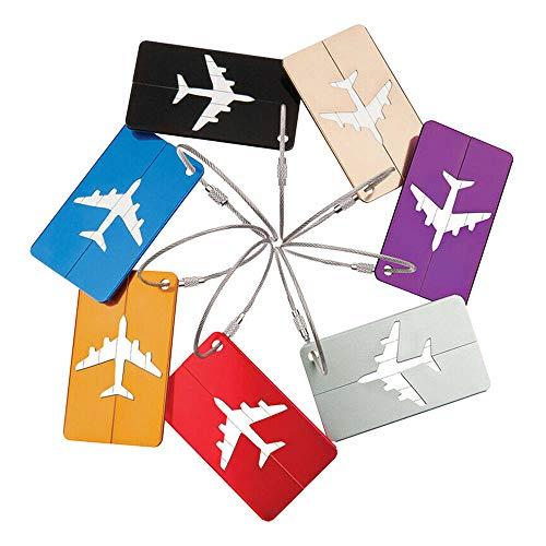 Raybre Art® 7 Teile/Satz Gepäckanhänger Mode Flugzeug Muster...