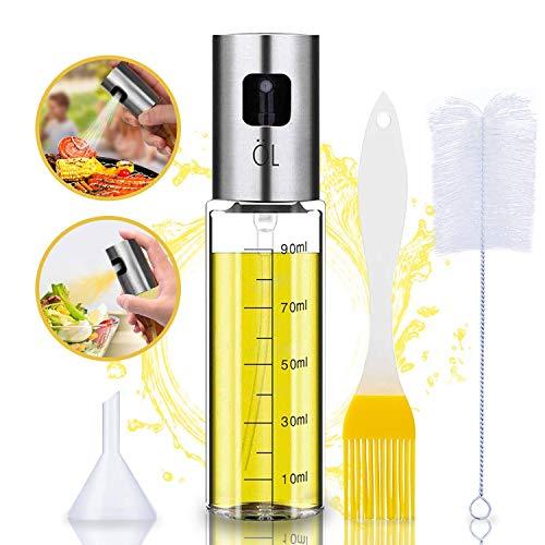 Oil Sprayer Olivenöl Sprüher zum Kochen 4 in 1 nachfüllbare Öl-...