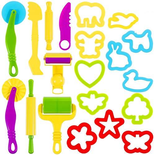 Lictin Knetwerkzeug Knete Zubehör 20 Pcs Teig Plastilin Werkzeuge...