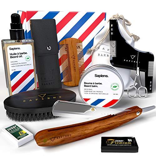 Bartpflege und Rasur Set Männer Sapiens Barbershop - Bart Set mit...