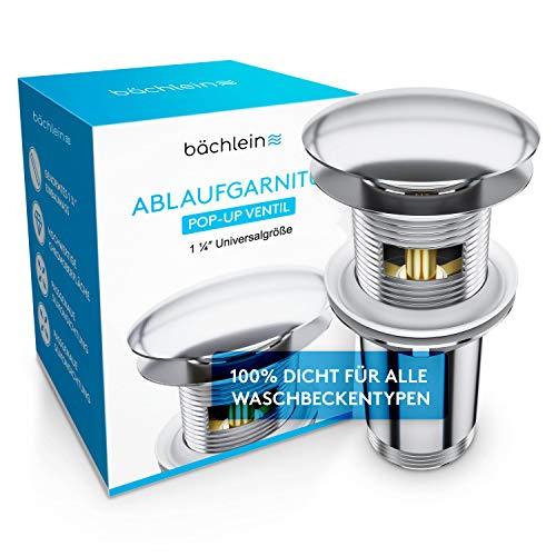 Bächlein Universal Ablaufgarnitur mit Überlauf für Waschbecken &...