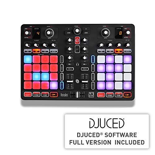 Hercules P32 DJ (2-Deck DJ Controller, 32 Performance-Pads, integr....