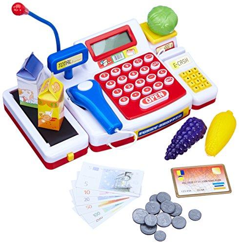 Simba 104525700 - Supermarktkasse mit Scanner Kinderspiel