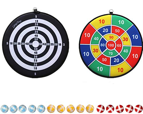 Double Side Kinder Dartscheibe mit 15 Sticky Balls, Kinder Brettspiele...