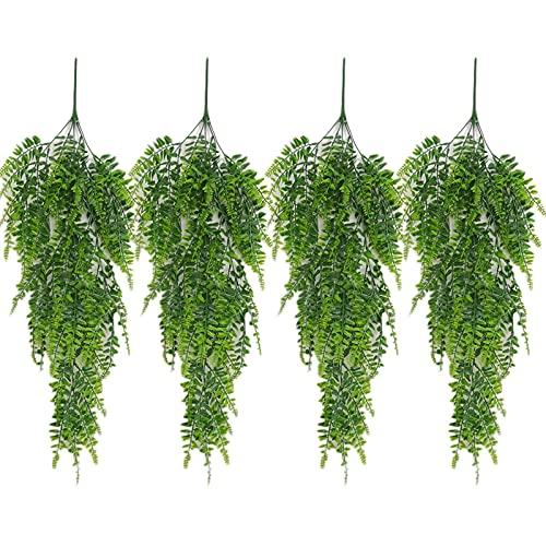 4 Stück Künstlich Pflanzen Hängend Hängepflanzen Künstliche...