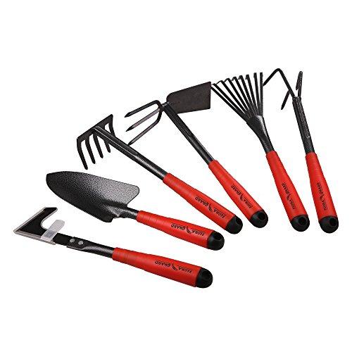 FLORA GUARD Gartengeräte,-6 Stück Garten Werkzeug Set...