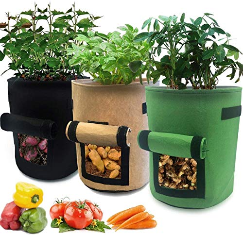 ECOMP Pflanzen Tasche, 3 Stück Pack Kartoffel Pflanzsack mit...