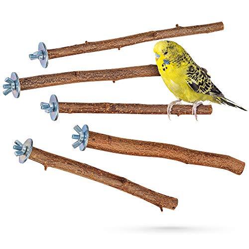 5 herrliche Natur Sitzstangen für Vögel wie Wellensittich,...
