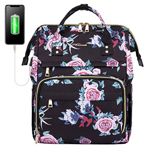 LOVEVOOK Laptop Rucksack Damen 15,6 Zoll, wasserdichte Schulrucksack...