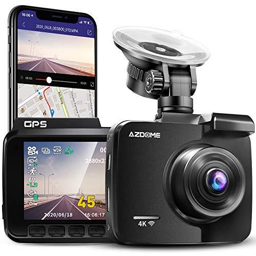 AZDOME 4K WiFi Dashcam mit GPS Autokamera mit 170°...