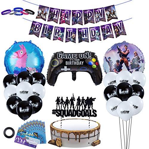 Herefun 41 Pcs Videospiel Party Zubehör Dekoration, Gaming Deko...