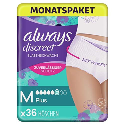 Always Discreet Inkontinenz Pants Gr. M, Plus (36 Höschen)...