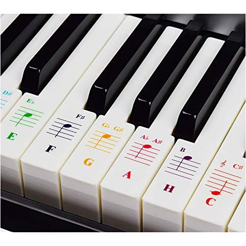 Klavieraufkleber für Keyboards mit 49/61 / 76/88 Tasten –...
