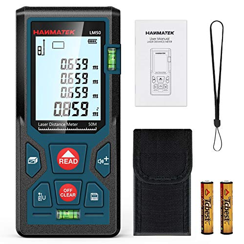 Entfernungsmesser, HANMATEK LM50 50M Digitales Laser Entfernungsmesse...