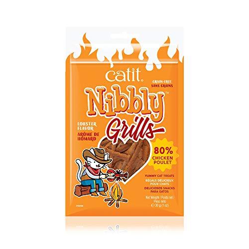 Catit Nibbly Grills Kaustreifen für Katzen aus Hühnerbrustfilet mit...