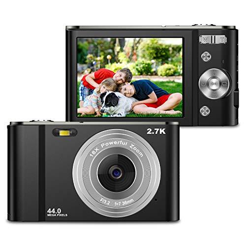 ZORNIK 2.7K Digitalkamera,Kamera Digital 2,88-Zoll-LCD-Akku HD 44...