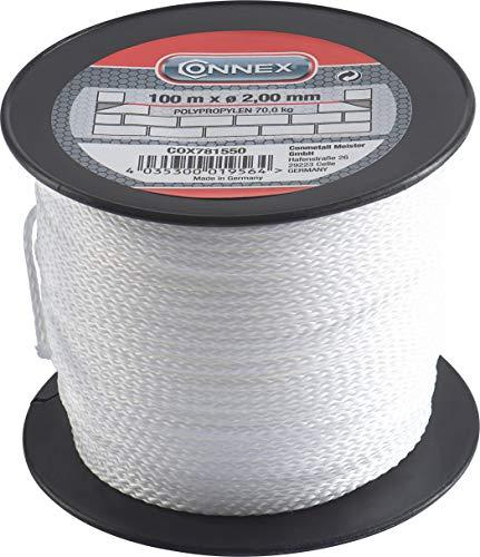 Connex Maurerschnur weiß - 100 m Länge - Ø 2,0 mm - Polypropylen...