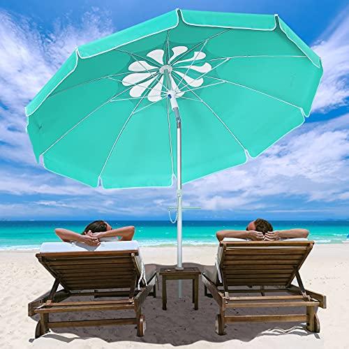 MOVTOTOP 200cm Sonnenschirm, UV 50+ Schutz Sonnenschirm Strand,...