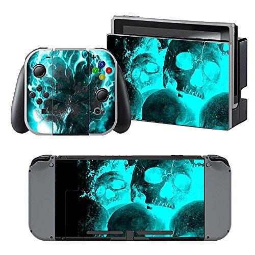 Nintendo Switch Skin,Sopear Ultradünne Aufkleber Set PVC Abnehmbare...