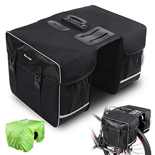 West Biking Fahrradtasche Doppeltasche Gepäckträger Tasche, 30L...