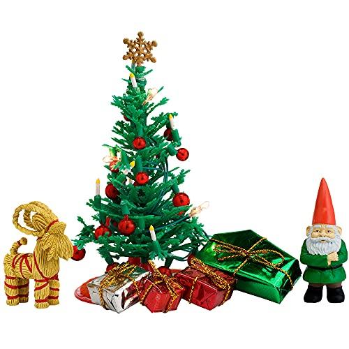 Lundby 60-604700 - Weihnachtsdeko Christbaum mit LED-Licht Puppenhaus...