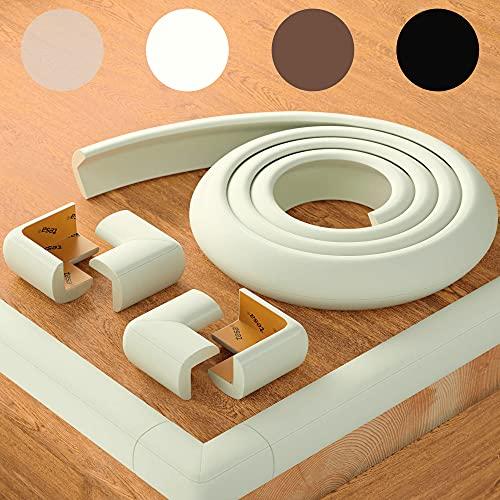 Weicher Kantenschutz von BEARTOP | weiß, schwarz, braun | starker...