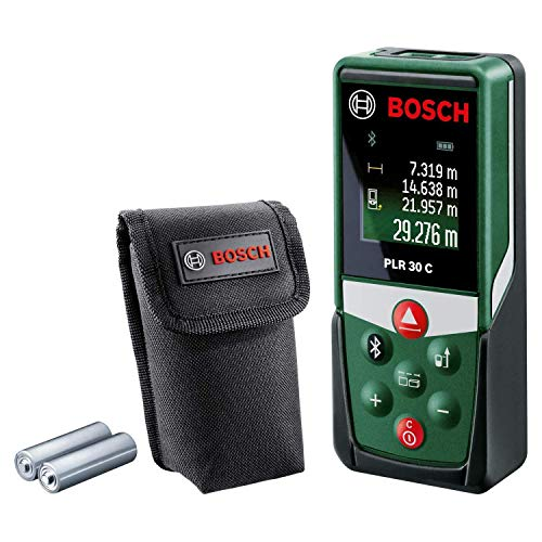 Bosch Entfernungsmesser PLR 30 C (mit App-Funktion, Messbereich:...