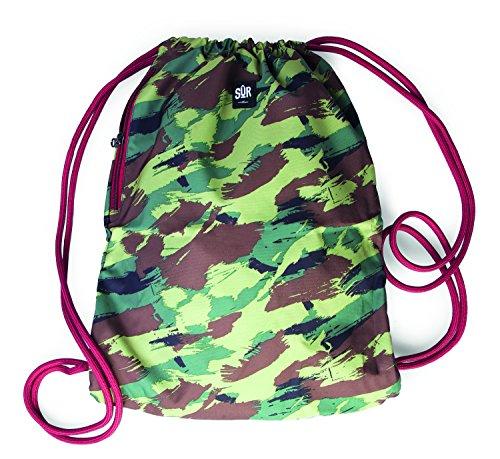 MSTRDS Unisex Sur Street Gym Bag camo woodl./maroon One Rucksack...