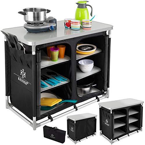 KESSER® Campingschrank, Campingküche mit Aluminiumgestell,...
