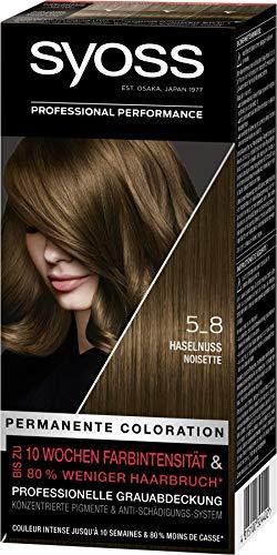 SYOSS Coloration, Haarfarbe Stufe 3 5_8 Haselnuss, bis zu 10 Wochen...