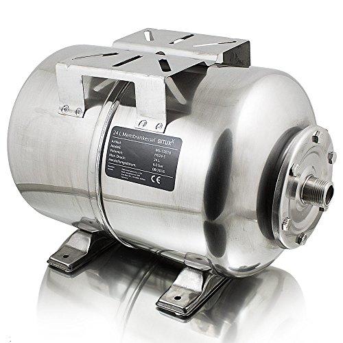 BITUXX® Edelstahl Membrankessel 24L Druckkessel Hauswasserwerk Kessel...