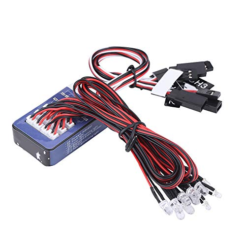 Dilwe 12-LED RC Auto Licht Kit, Beleuchtung System Kit Simulation...