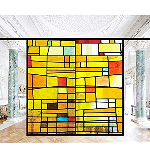 Siunwdiy Fensterfolie Buntglas Kirchenfensteraufkleber,Fensterfolie Uv...