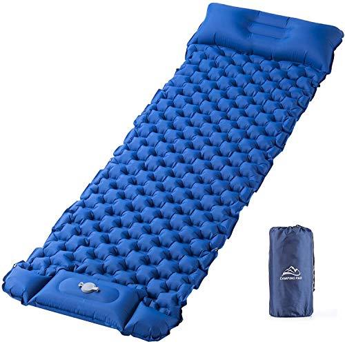 Isomatte Camping Aufblasbare Schlafmatte Fußpresse - Elegear...