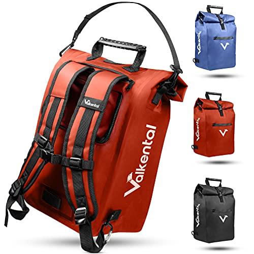 Valkental - 3in1 Fahrradtasche - Geeignet als Gepäckträgertasche,...