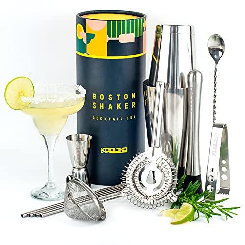 Boston Shaker Set Edelstahl Tin, Cocktailshaker Profi Geschenkset...