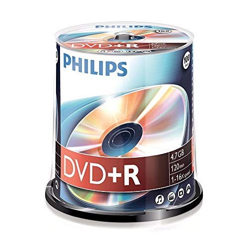 Philips DVD+R Rohlinge (4.7 GB Data/ 120 Minuten Video, 16x High Speed...