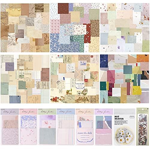 406 Blätter Scrapbooking Papier, Vintage Papierblock Scrapbook...