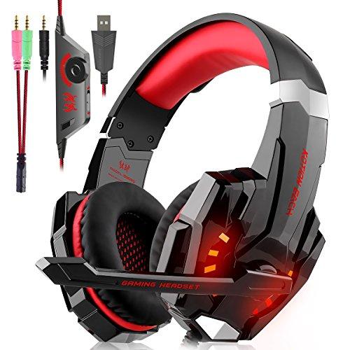 Gaming Headset für PS4 Xbox One PC, Gaming Kopfhörer mit Mikrofon,...