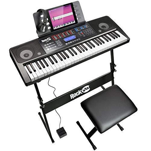 RockJam 61 Tasten Touch Display Keyboard Klavierset mit...