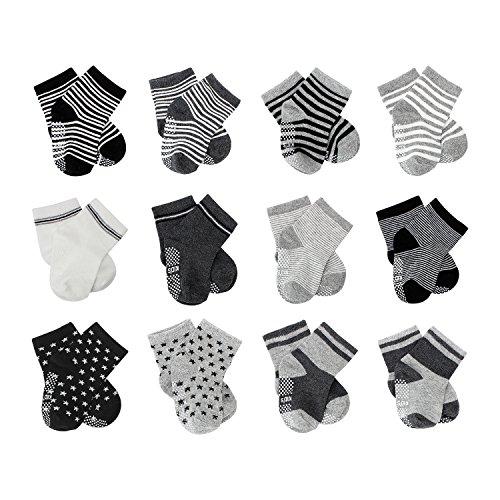 FUTURE FOUNDER 6er-pack Stoppersocken Kinder Baby ABS Socken, Anti...