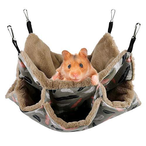 Aceshop Hängematte für Kleintiere, Weiche und Warme Haustiere Käfig...