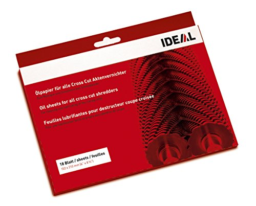 IDEAL Ölpapier (Schmiermittelblätter) für Aktenvernichter zum...