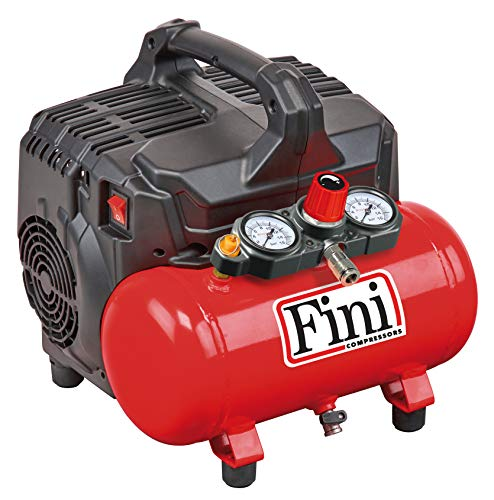FINI SILTEK S/6 leiser Kompressor 2 Manometer (59 Db), 6L, 1.0 HP, 8...