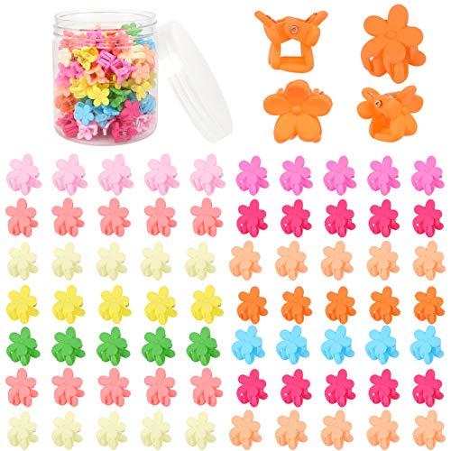 Fumanduo 100 Stück Mini Haarclips Baby Haarspangen Blumen Mini...