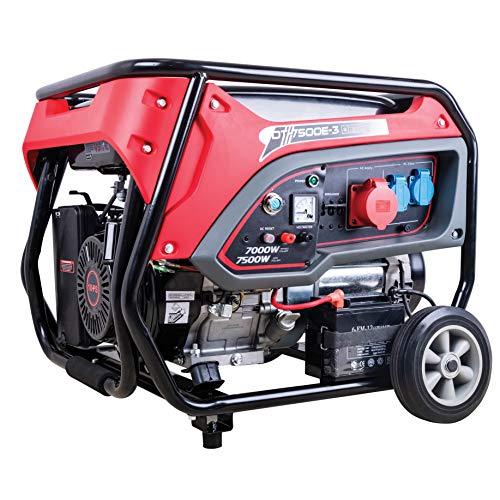 DeTec. DT-7500E-3 Benzin-Generator (7kW Dauerleistung, 7500 Watt max....