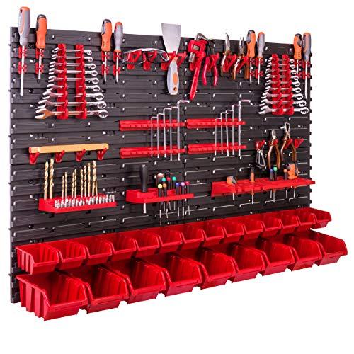 Lagersystem Wandregal 115x78 cm, Werkzeughalterungen, 23 stck....