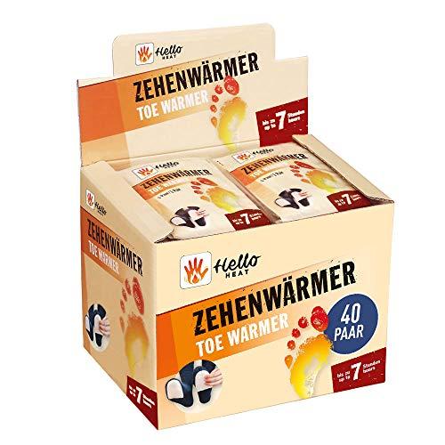 HELLO HEAT (Warmpack 40 Paar Zehenwärmer I Schuhheizung mit...